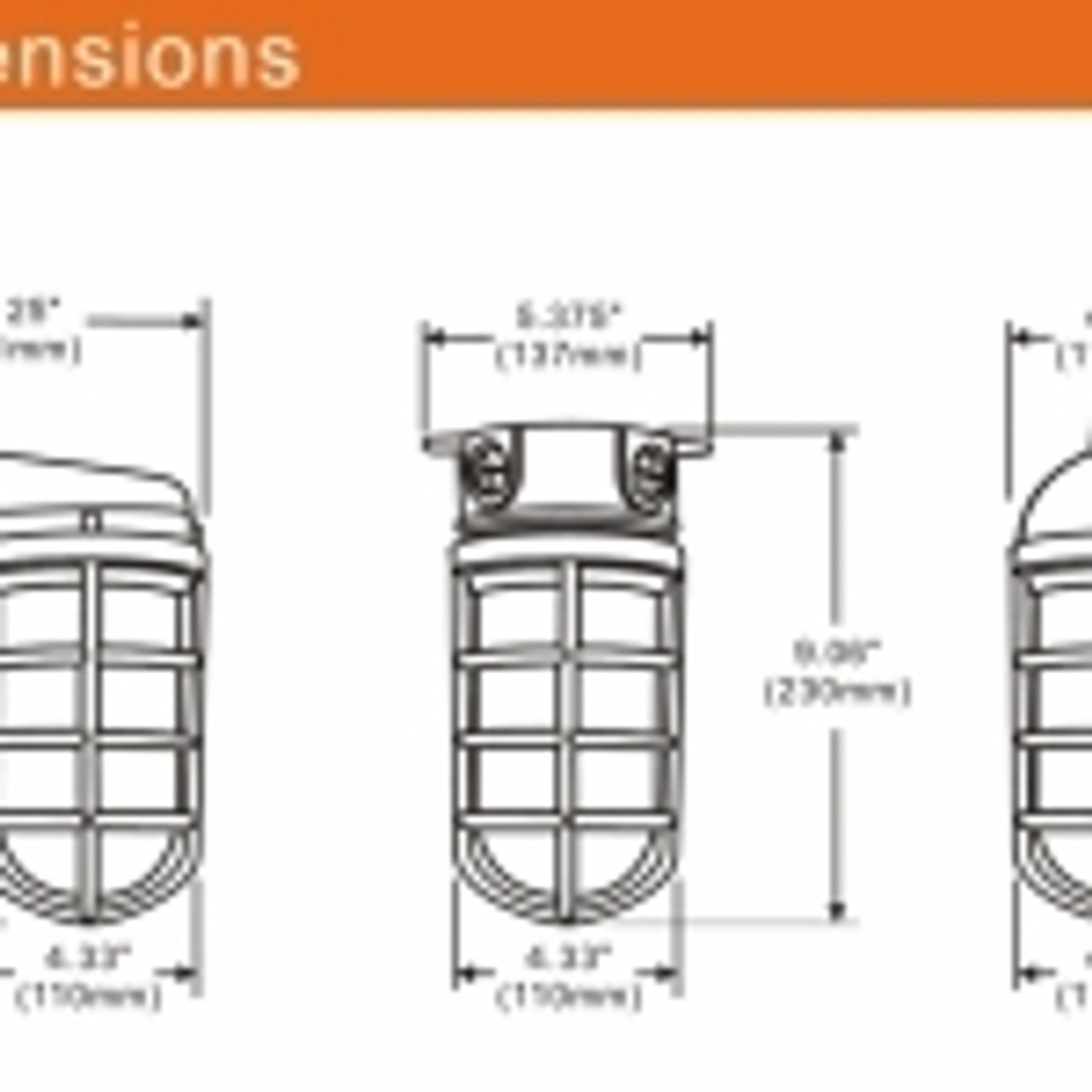LED Vapor Proof 11 watt Jelly Jar, Wall Mount