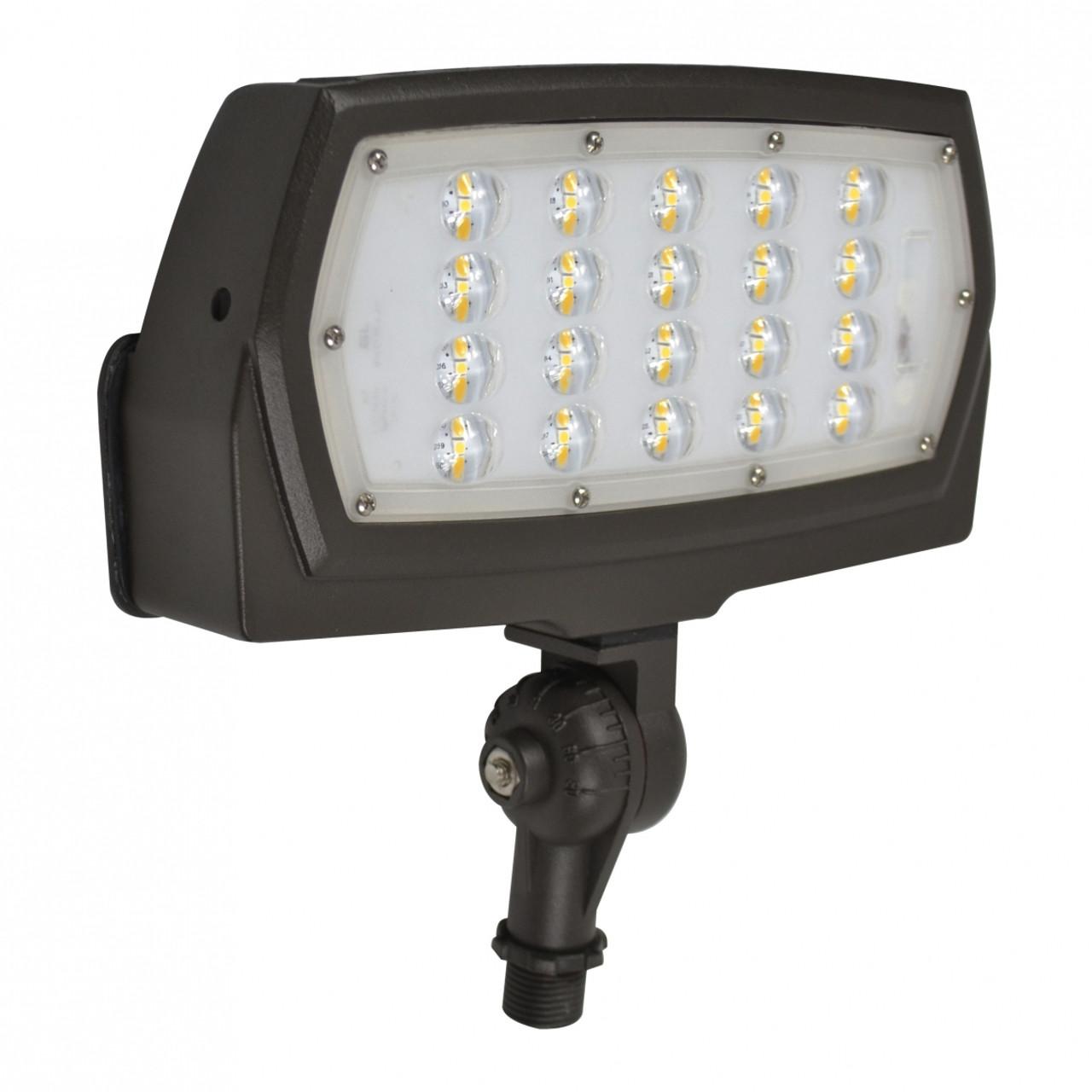 LED Slim Line Flood Light with Knuckle Mount