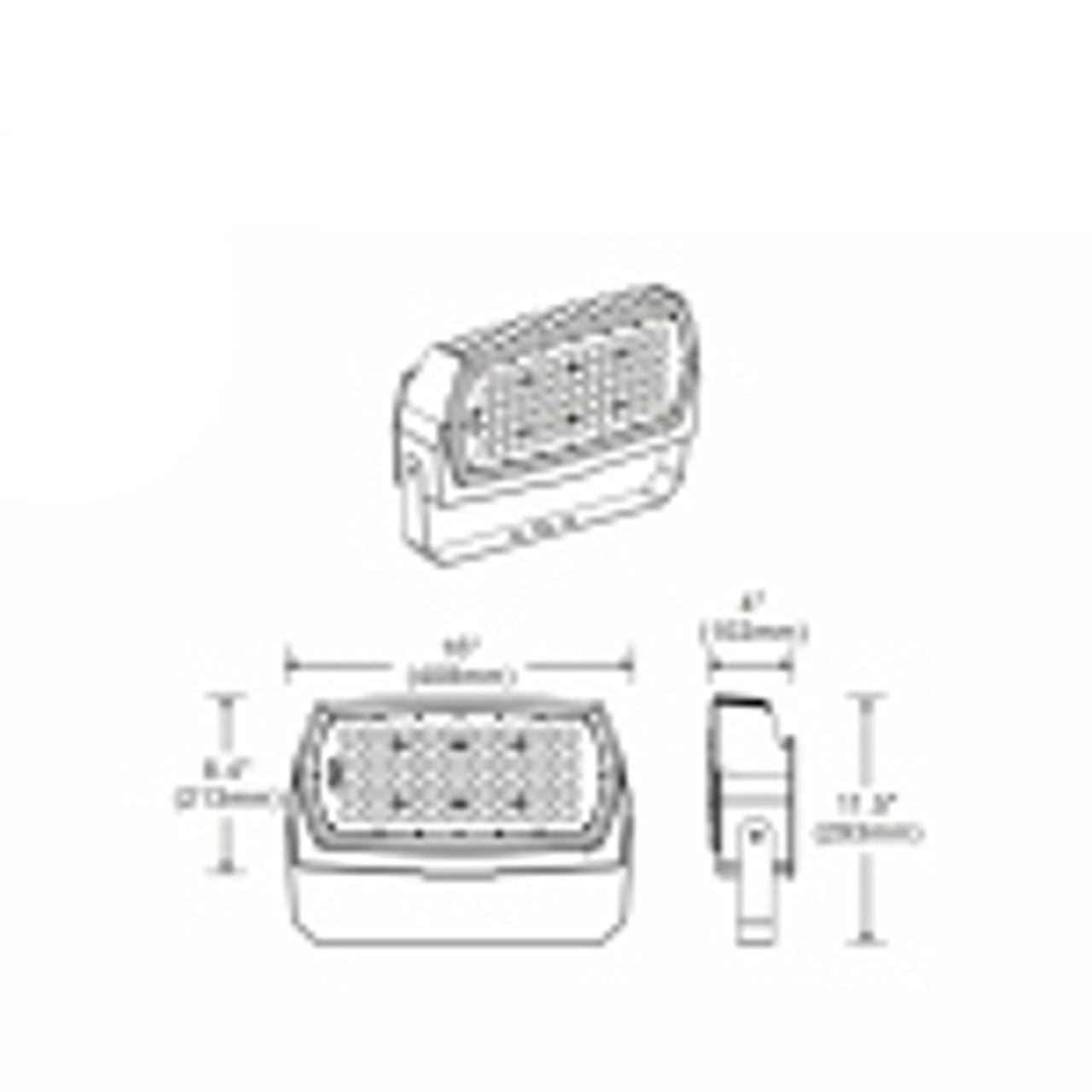 Slim Line LED Flood Light, 187 watt, 23465 lumen, 120-277 volt, UL DLC Listed, with trunnion mount