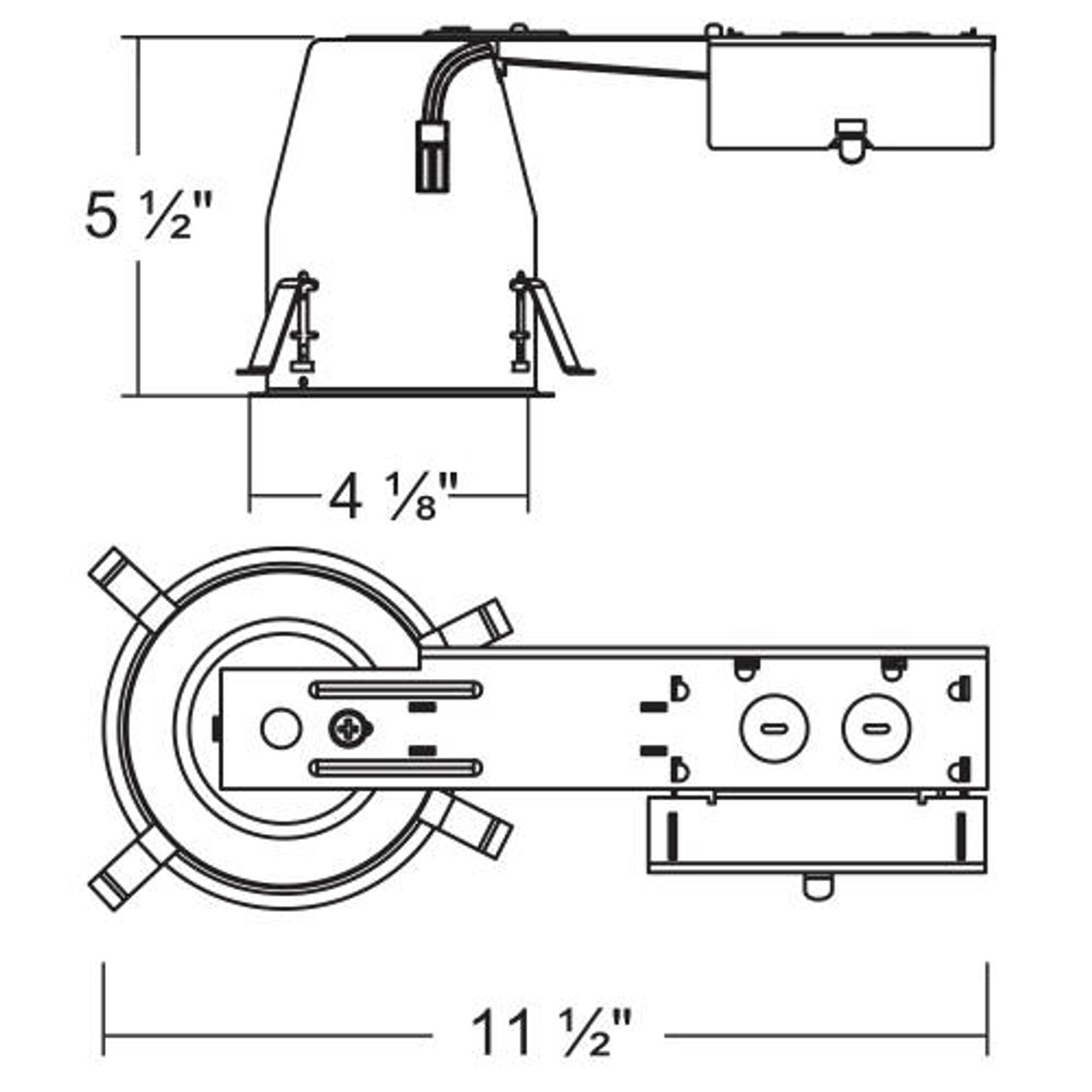 4 in. LED IC Recessed Housing Remodel Can with quick-connect