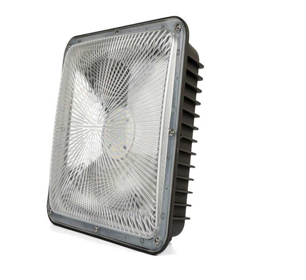 Slim Line Canopy LED Light 70 Watt, 9100 lumen , 5000 Kelvin 100-277 volt UL DLC Listed