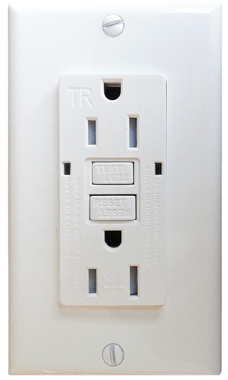 15 AMP Tamper Resistant, Self-TestingGFCI w/ LED