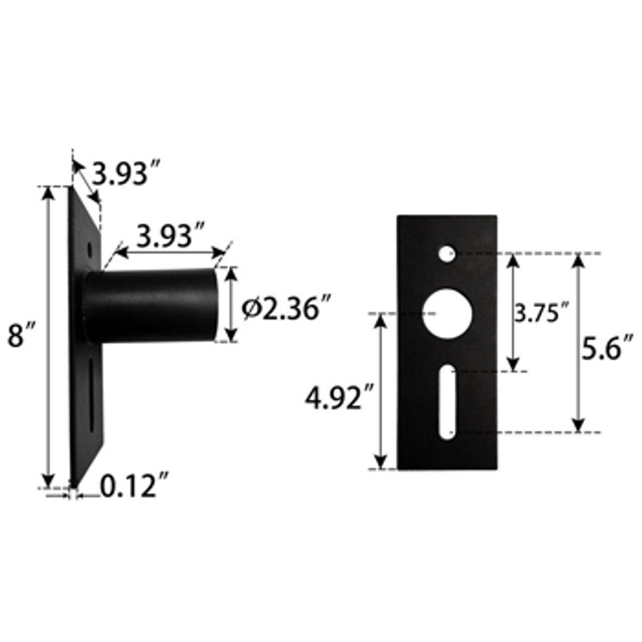 Slip Fitter Adaptor Dimensions