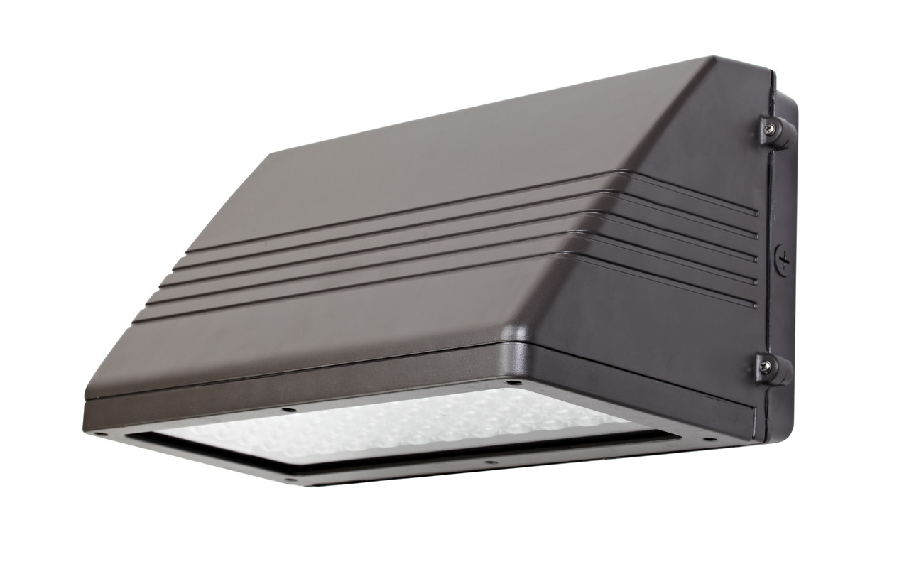 LED Full Cutoff Wall Pack 135 Watt, 1400 lumen, 5000 Kelvin 100-277 volt UL DLC Listed