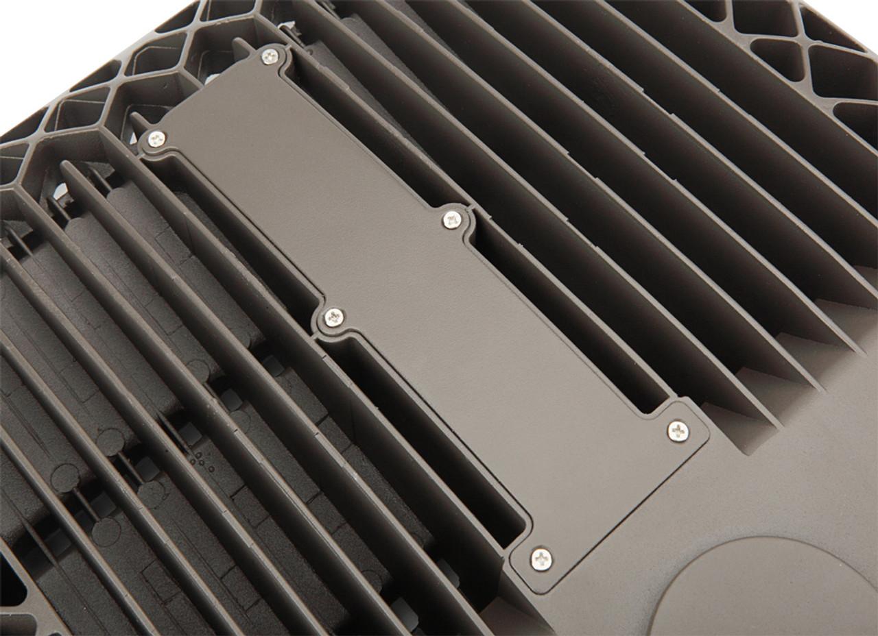 LED Shoe Box, 150 watt, 19500 lumen, 480 volt, 5000 Kelvin, UL and DLC Listed, Dimmable