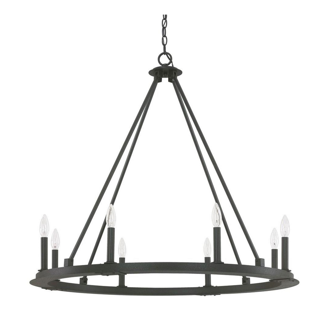 "Pearson 36"" Eight Light Chandelier by Capital Lighting, 120V, 480W, Dimmable, UL Listed Dry (4918BI-000)"