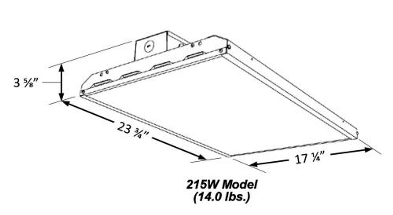 Slim Linear LED High Bay, 215 Watt Line art