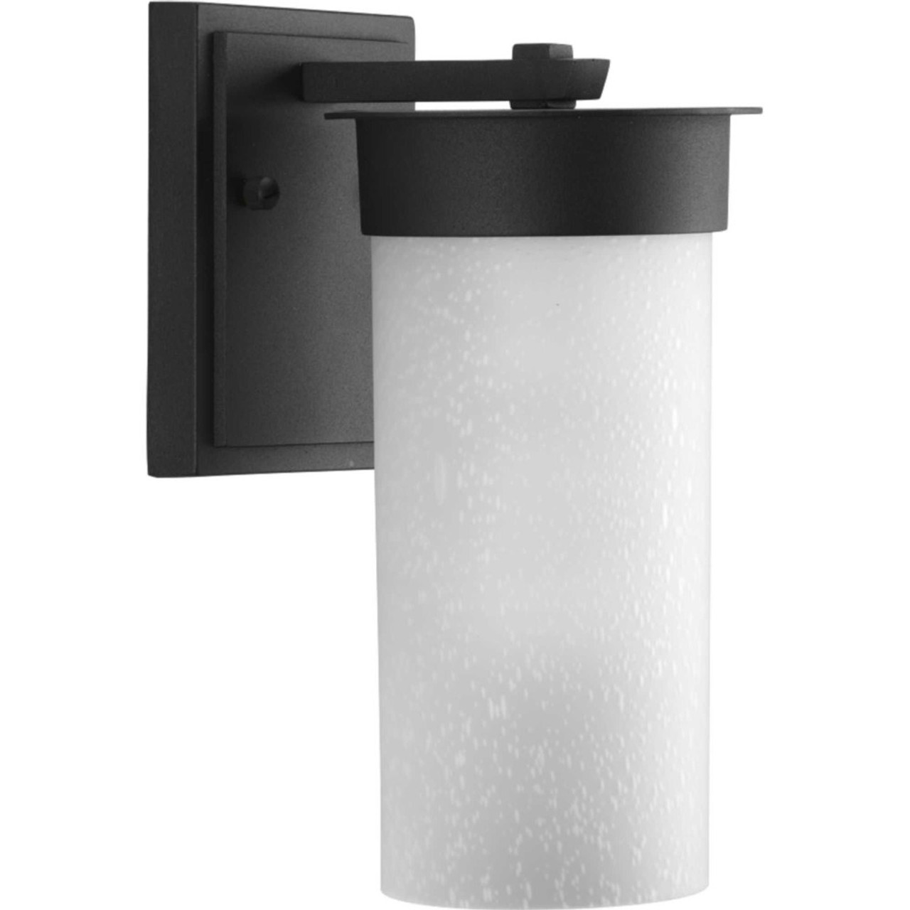 Hawthorne, One Light Outdoor Small Wall Lantern, Black Finish with Etched Seeded Glass, 120V (P5624-31)