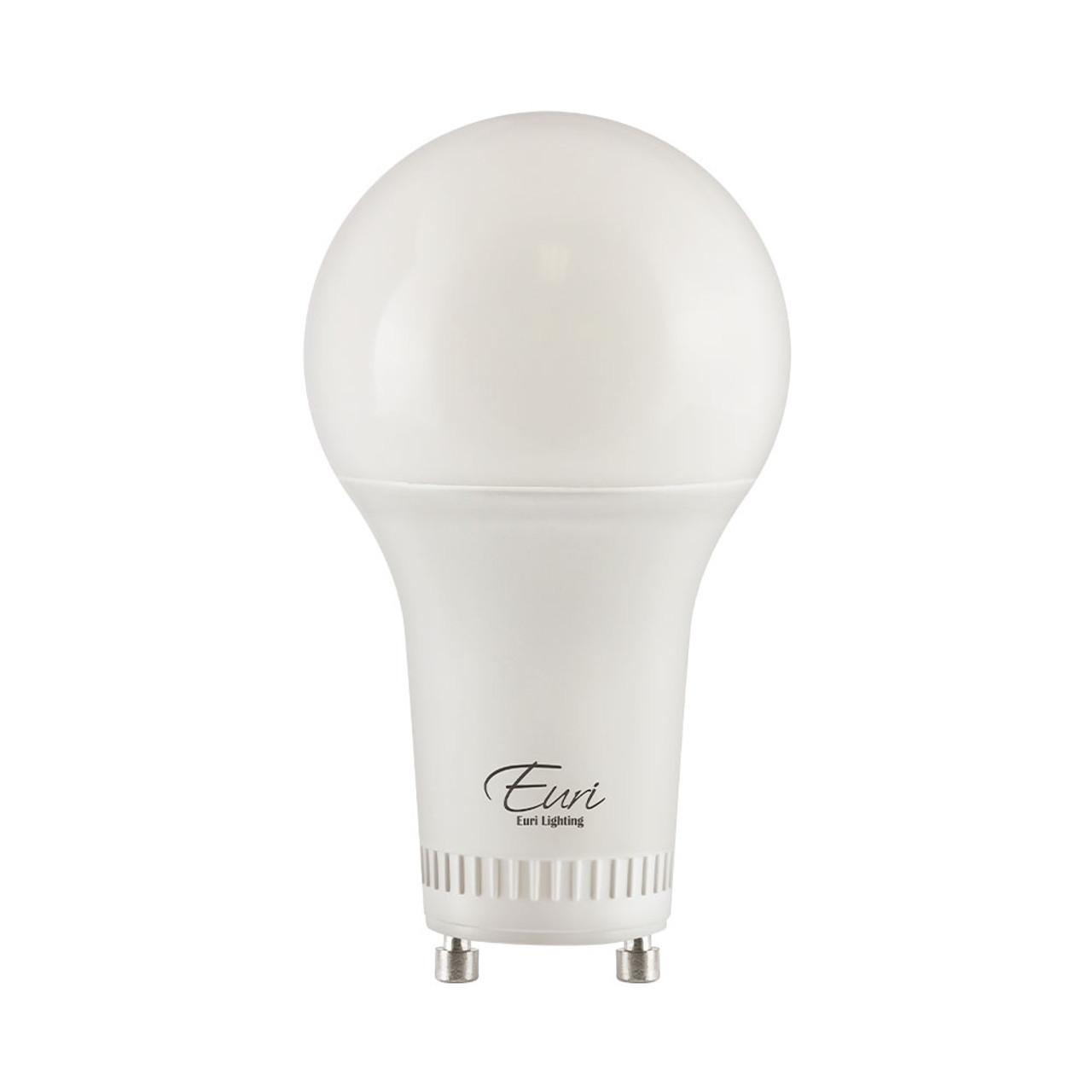 A19, Omni-Directional, LED Light Bulb, Dimmable, 11W, 120V, 1100 lm, 5000K, Value-Pack (Qty. 2), GU24 Base (EA19-11W2050eG-2)
