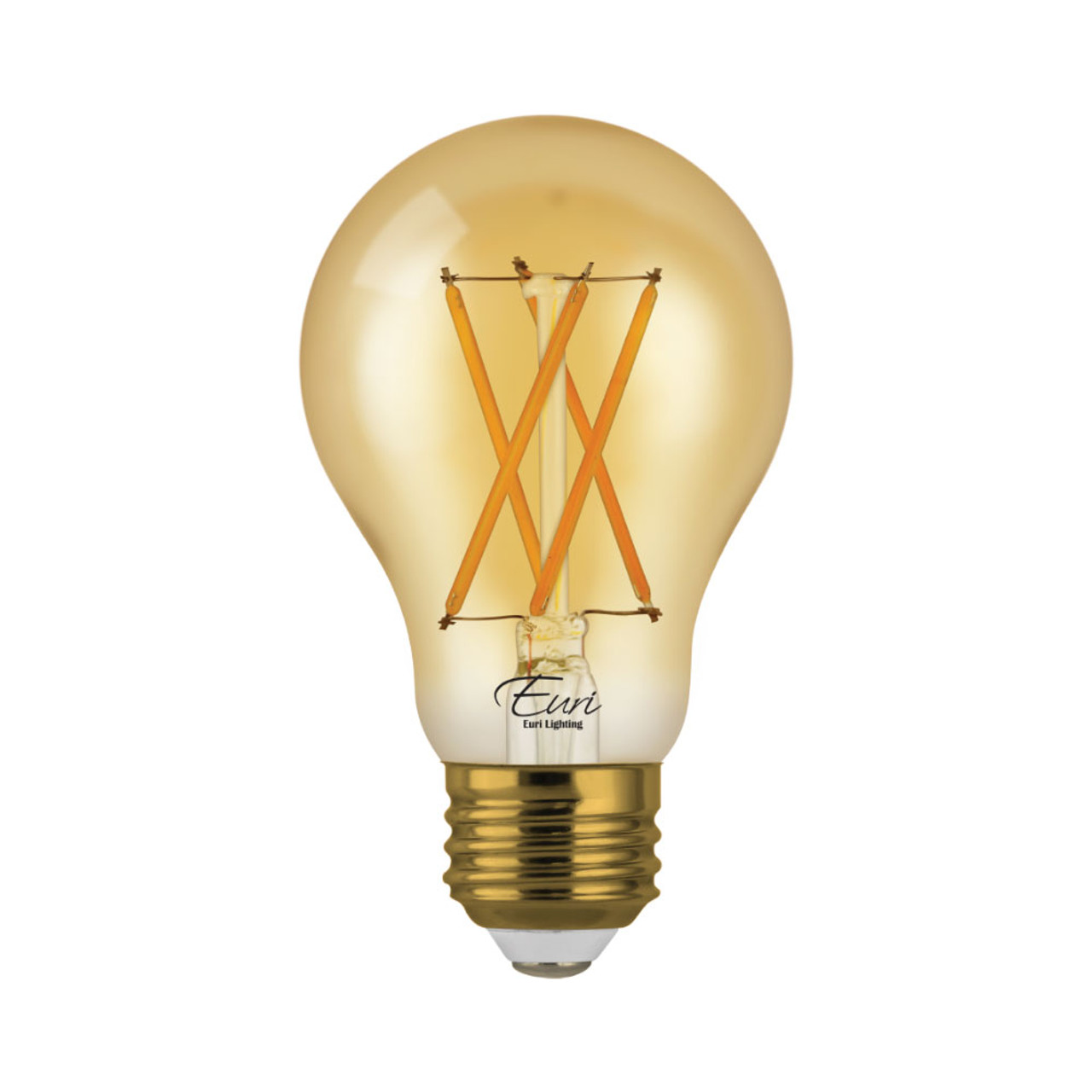 A19, Omni-Directional, LED Light Bulb, Dimmable, 7 W, 120 V, 600 lm, 2200 K, E26 Base (VA19-3020ea