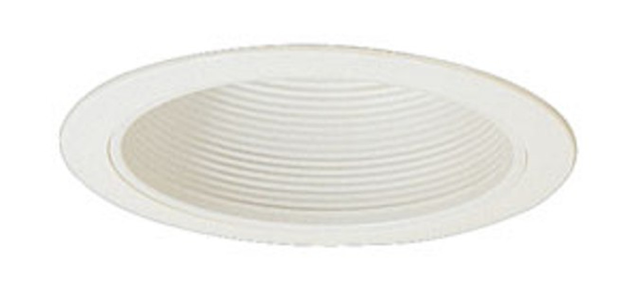 6 inch White Stepped Baffle Trim for PAR38, R40, BR40 bulbs