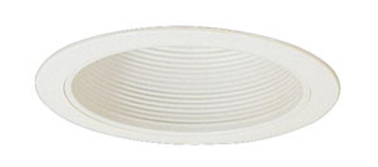 6 inch White Stepped Baffle Trim for PAR30, R30, BR30 bulbs (AL-6T-BW-75)