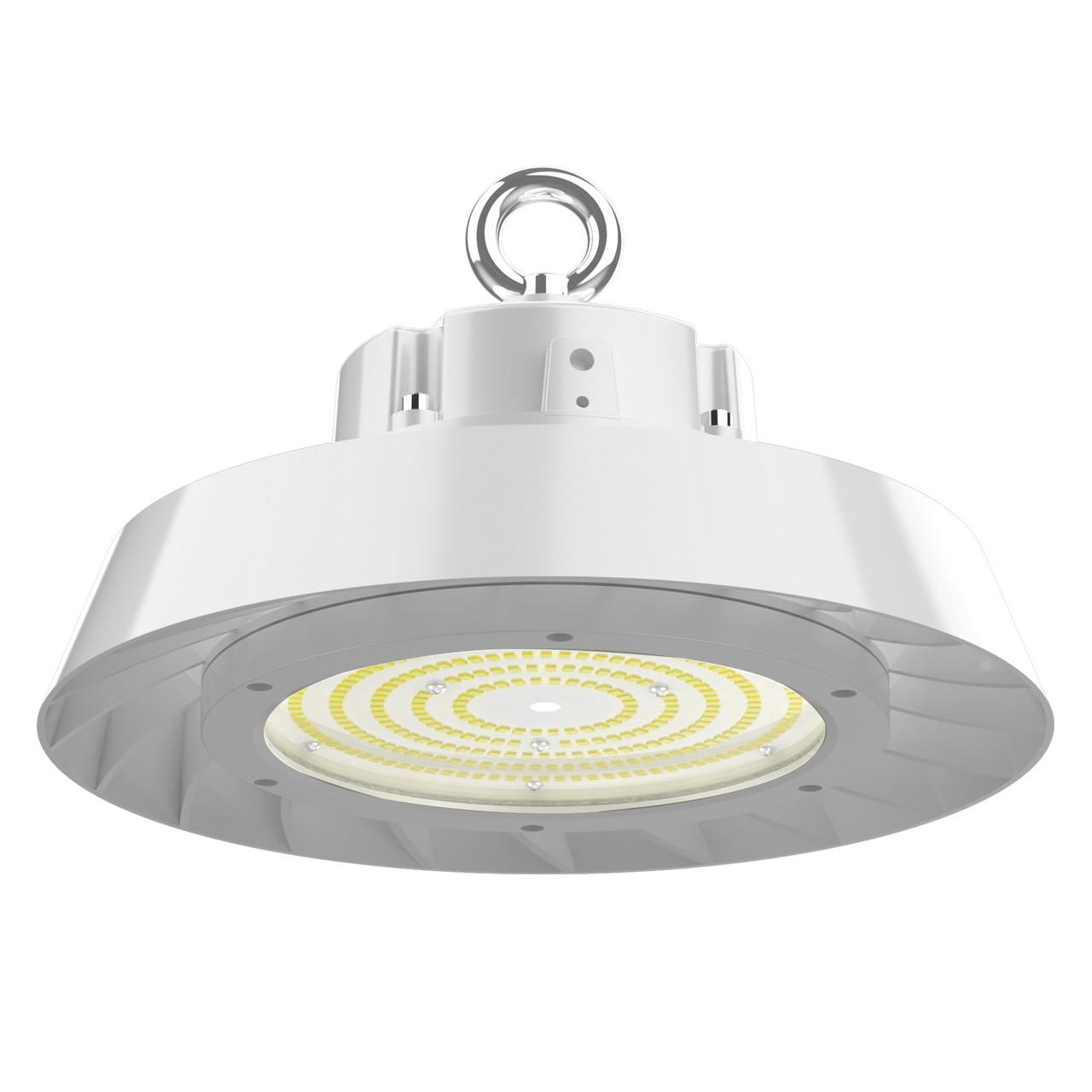 UFO LED High Bay 240 Watt , 33600 Lumen, 100-277 volt, 5000 Kelvin, DLC Premium and UL Listed, Dimmable, 6ft power cord, White (AL-UFE-240W-MV-WH)