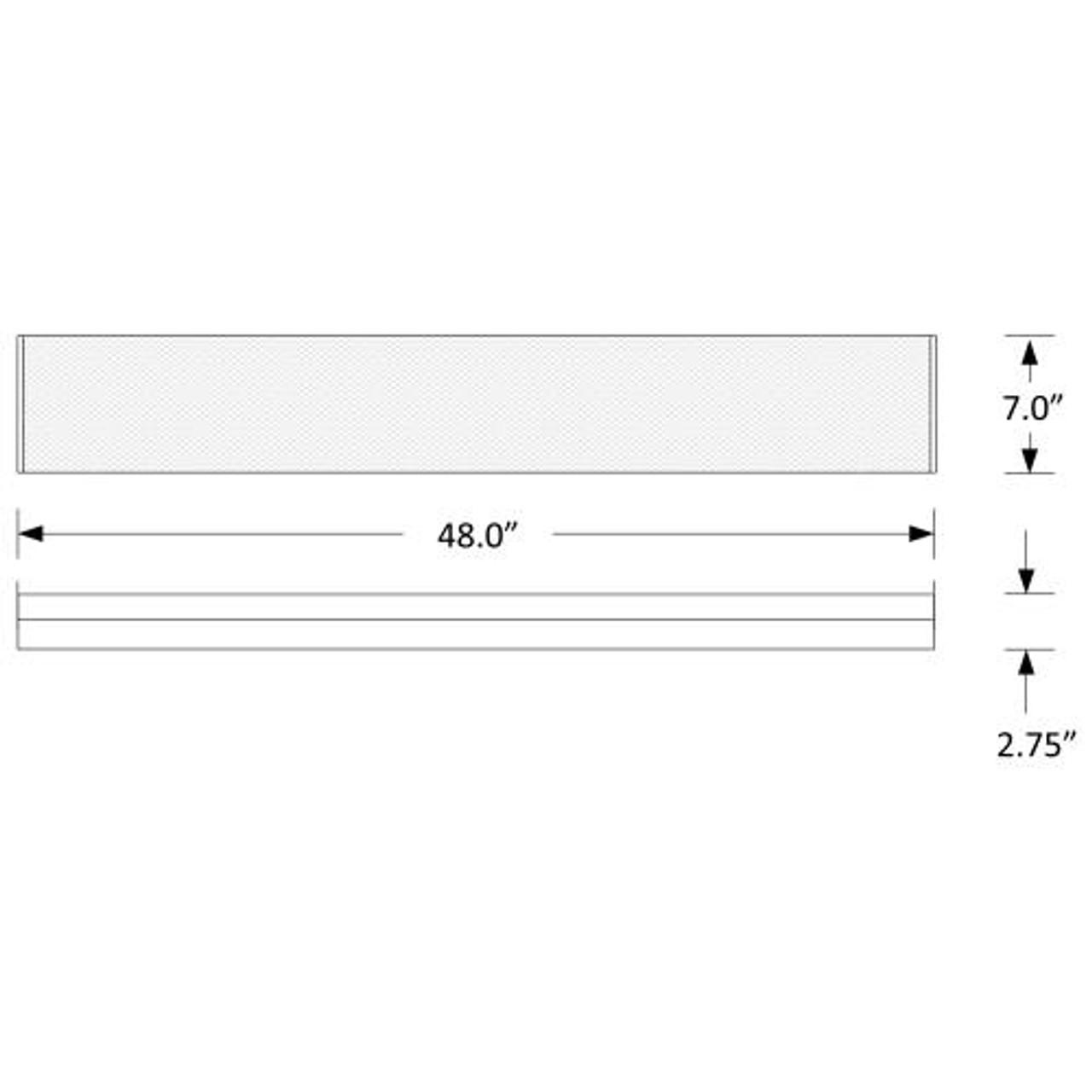 LED Wrap Around 4ft, 40 watt, 5240 lumens, 120-277V, DIM, UL and DLC Listed