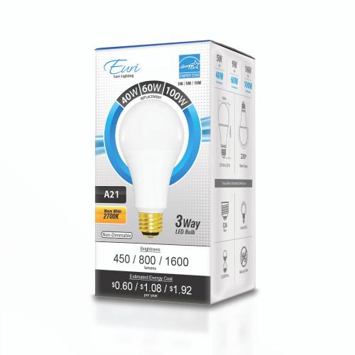 A21/Omni-Directional/16 W/ 120 V/ 1600 lm/ 230°/ 2700 K/ 80 CRI / 100 lm/W (EA21-1020et)