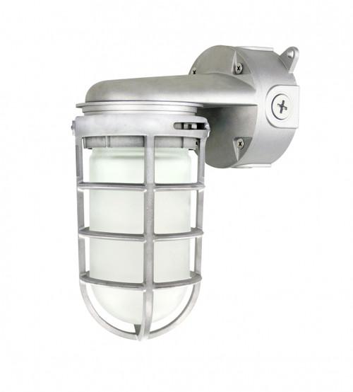 LED Vapor Proof, 11 watt Jelly Jar, Wall Mount
