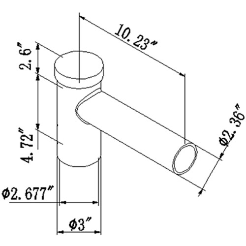 Pole Tenon Spoke Single Bracket Arms for 1 fixture, LED Street Light, Shoebox Parking Light, Parking Lot Pole Bracket