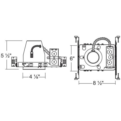4 in. LED IC Recessed Housing New Construction Can LINE ART