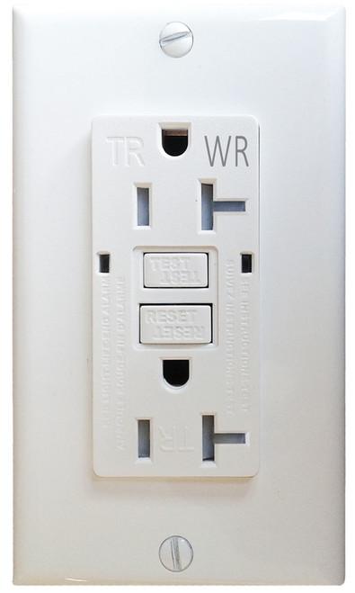 20 AMP Self-Testing Tamper Resistant / Weather Resistant GFCI w/LED