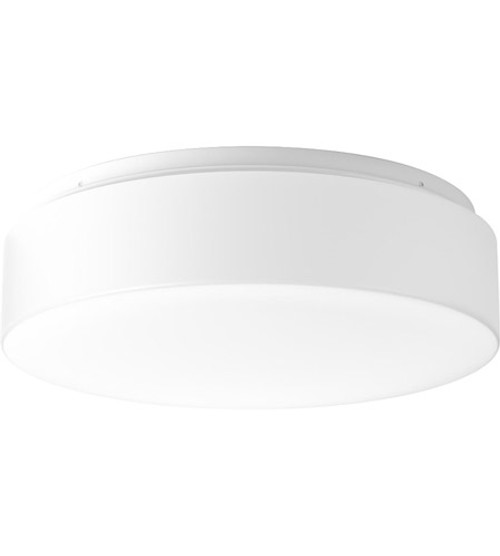 """Progress Lighting Decorative Light, Drums And Clouds LED 14"""", white acrylic diffuser mounts to baked enamel ceiling pan, Flush Mount, Ceiling or Wall Mount, 2025 lumens, 90 lumens/watt, 3000K and 90CRI, 120V (P730002-030-30)"""