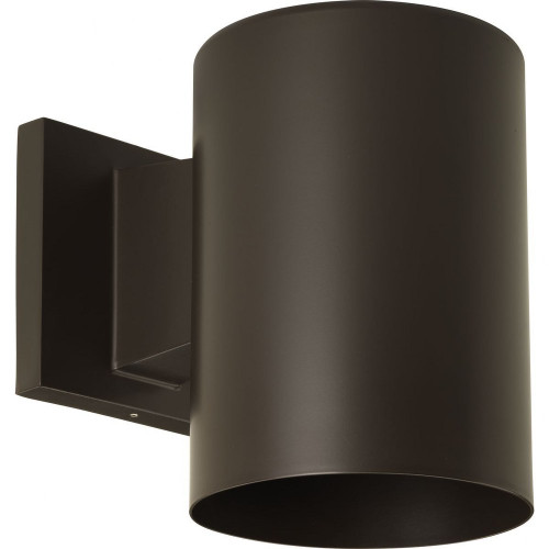 One Light Outdoor Wall Mount, Antique Bronze Finish with Metal Shade, 120V, 75W, UL and CSA Listed (P5674-20)