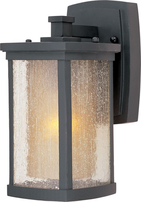 Bungalow, One Light Wall Mount, Bronze Finish with Seedy Glass, 120V, 60W, UL Listed (3152CDWSBZ)