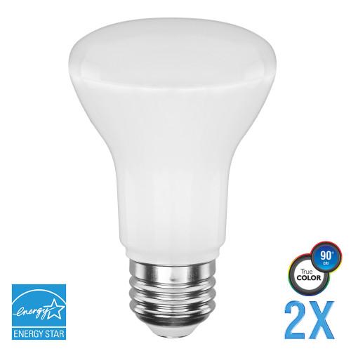 BR20, Flood, LED Light Bulb, Dimmable, 5.5 W, 120 V, 525 lm, 5000 K, E26 Base (EB20-4050E-2)