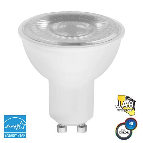 PAR16, Flood, LED Light Bulb, Dimmable, 7 W, 120 V, 450 lm, 3000 K, GU10 Base (EP16-4000ew)