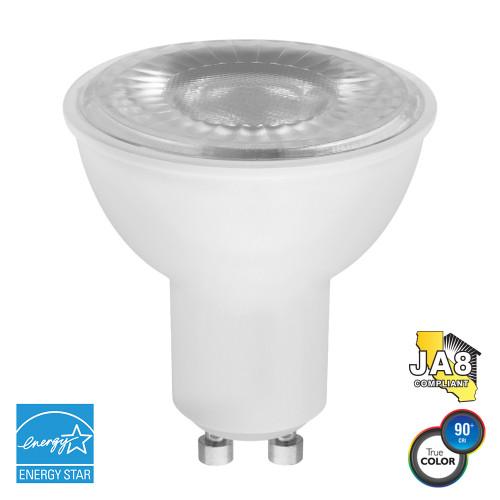 PAR16, Wide Spot, LED Light Bulb, Dimmable, 7 W, 120 V, 450 lm, 2700 K, GU10 Base (EP16-4020ew)