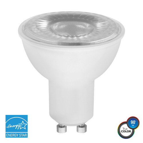 PAR16, Wide Spot, LED Light Bulb, Dimmable, 7 W, 120 V, 450 lm, 5000 K, GU10 Base (EP16-4050ew)