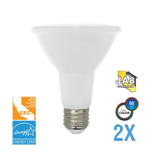 PAR30, Flood, LED Light Bulb, Dimmable, 12 W, 120 V, 850 lm, 3000 K, E26 Base (EP30-4000cecw-2)