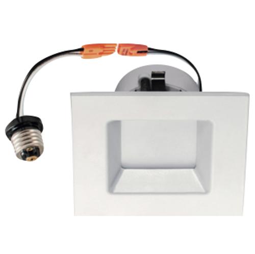 4 inch, 610 lumens, Dimmable, LED Retrofit Downlight Square Trim, 120 volt