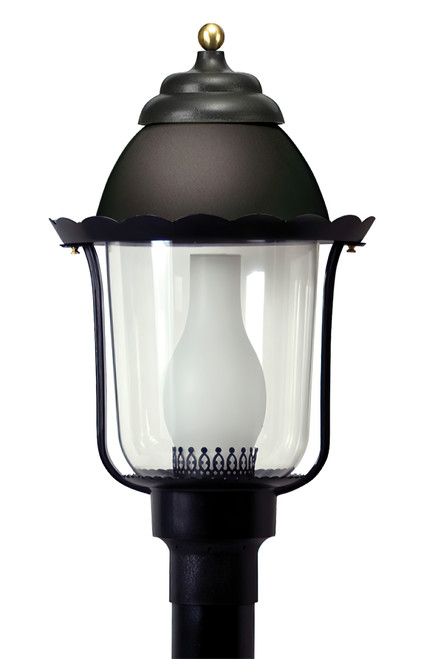Black Marlex LED Outdoor Post Fixture by Wave Lighting, 120V, 12W-16W, 3K or 4K, 1000-1400lm, Dimmable, cUL listed for Wet