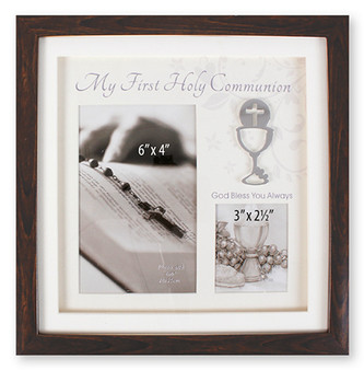 Communion Photo Frame in Brown finish