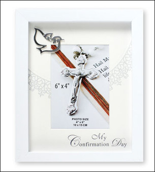 Confirmation Photo Frame in White