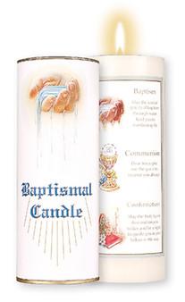 "Baptismal, Communion & Confirmation 7"" Candle"