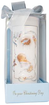"Blue Boxed Baptismal 6"" Candle"