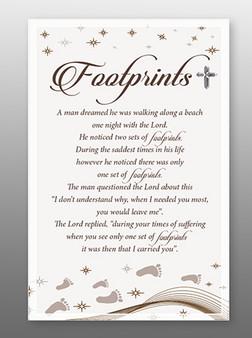 Glass Plaque Footprints