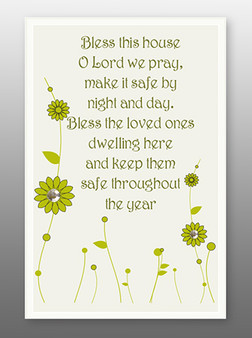 Glass Plaque Home Blessing