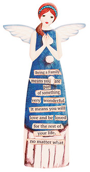 Family  blessing porcelain Angel