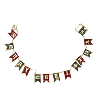 Tartan Bunting 'Merry Christmas'