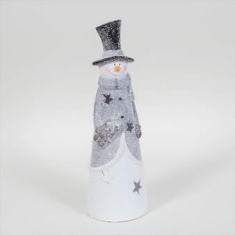 Snowman Candle Housing Ornament
