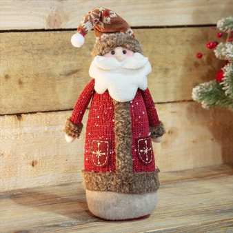 Santa Fabric Ornament