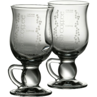 Galway Crystal Pair of Irish Coffee Glasses