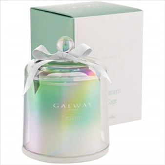 Galway Crystal Cardamom & Sage Scented Bell Jar Candle