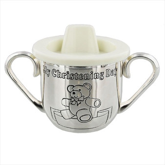 """My Christening Day"" Christening Mug with handles"