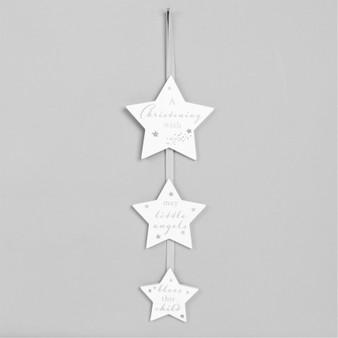 Bambino Christening Day Triple Hanging Stars