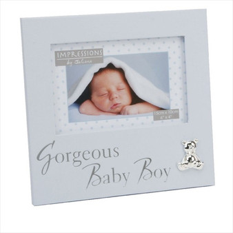"""Gorgeous Baby Boy"" Textured Frame"