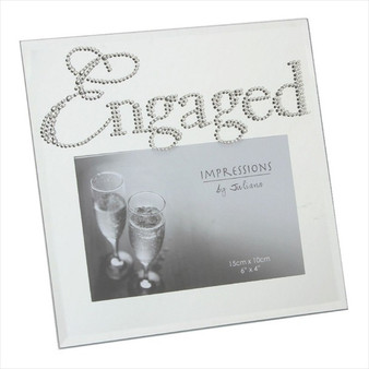 Engagement Glass Photo Frame