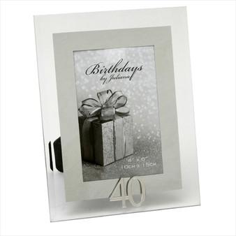 40th Birthday Glass Frame